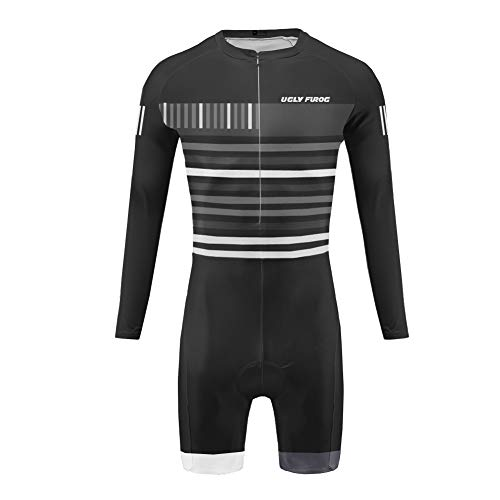Uglyfrog Ropa Manga Larga Hombre Maillots Ciclismo Skinsuit with Short Legs Triatlón Clothes SSX01