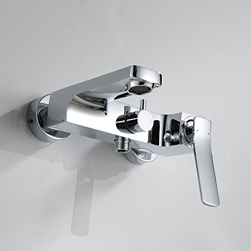 Maifeini Grifos de latón _ Mezclador de ducha caliente y fría Triple ducha caliente y fría grifo de pared