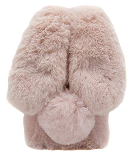 Samsung A10e A20e Furry Bunny Case Pink, Galaxy A10e A20e Fluffy Case, Women Fashion 3D Faux Fur Fluffy Rabbit Ear Case for Samsung Galaxy A10e & A20e Girls