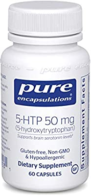 Pure Encapsulations - 5-HTP (5-Hydroxytryptophan) 50 mg - Hypoallergenic Dietary Supplement to Promote Serotonin Synthesis - 60 Capsules