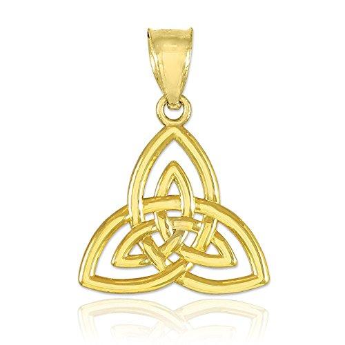 10k Gold Celtic Knot Charm Triquetra Pendant