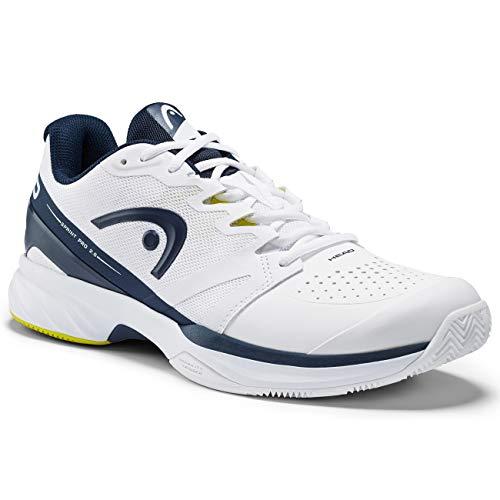 Head Sprint Pro 2.5 Clay Zapatillas de Tenis, Niños, White Dark Blue, 41 EU