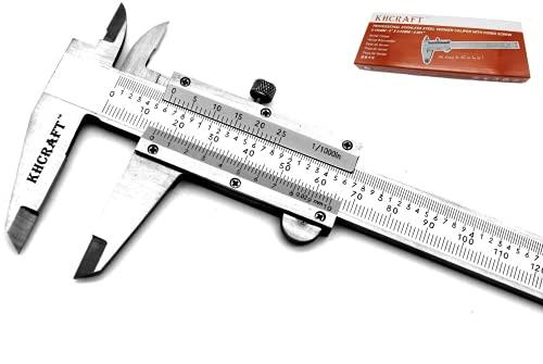 KHCRAFT Professional Caliper Vernier Caliper Stainless Steel Hardened Chromeplated Inch/Metric 0-6