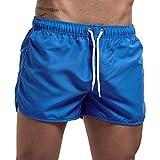Hommes Shorts Sport Cordon Pantalon Court Taille Elastique Bermudas Gym Workout Jogging Fit Décontractés Sportwear Casual Survêtement Séchage Rapide Short Pants Trouse