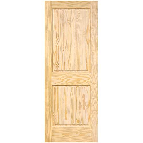 2-Panel Door, Interior Door Slab, Solid Pine, Square Top, Double Hip Panel