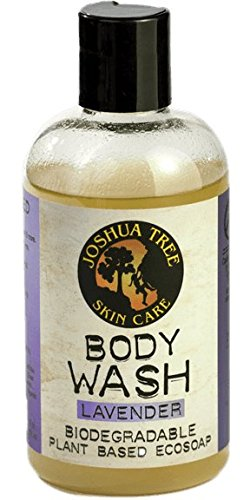 Joshua Tree 8 oz. Eco-Soap - Body Wash, Shampoo - Biodegradable Plant-Based Soap with Organic Ingredients (Lavender)