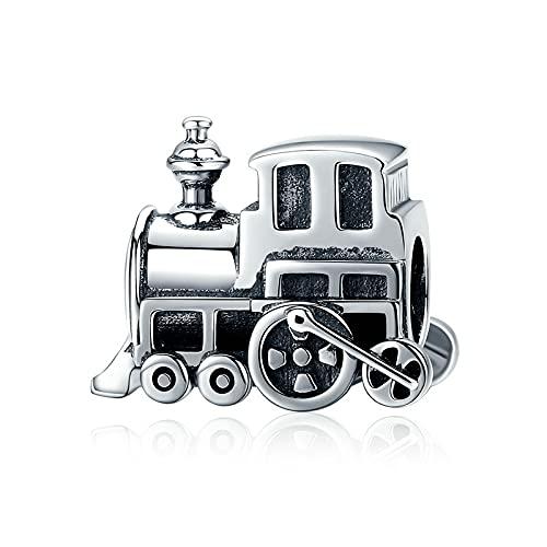 Pandora Damen Charms 925 Sterling Silber Vintage Lokomotive Eisenbahnwagen Schmuck Für Pandora Und Andere Europäische Armbänder & Halsketten
