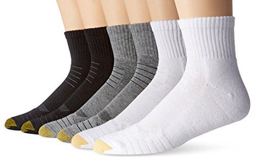 Gold Toe Socken für Männer (6-Pack) Einheitsgröße Grau Heather, Weiß, Schwarz