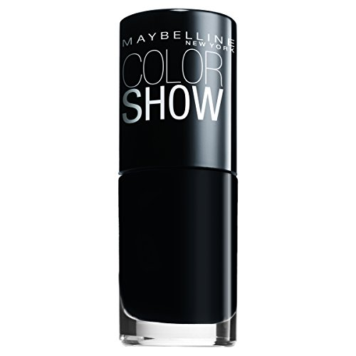 Maybelline New York Make-Up Nailpolish Color Show Nagellack Blackout / Ultra glänzender Farblack in tiefem Schwarz, 1 x 7 ml