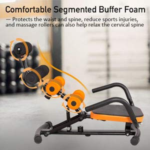 GYMAX Abdominal Twister Trainer, Incline Ab Rocket Exerciser Height Adjustable, for Crunch Sit-up Exercise Abdominal Workout