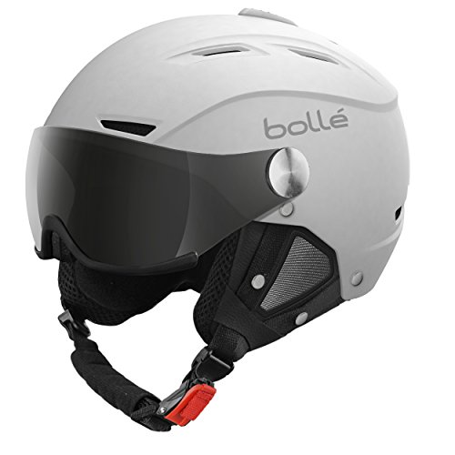 Bollé Backline Visor, Casco da Sci Unisex Adulto, Bianco (Soft White/Silver Gun/Lemon), 56-58 cm