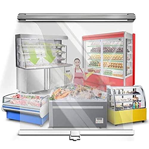 Jcnfa- Persianas enrollables Transparentes HD ,Enrolle la Cortina,moverse hacia Arriba y hacia Abajo,para congeladores, Alimentos cocinados, a Prueba de Polvo, Pasteles(Size:75cm×150cm)