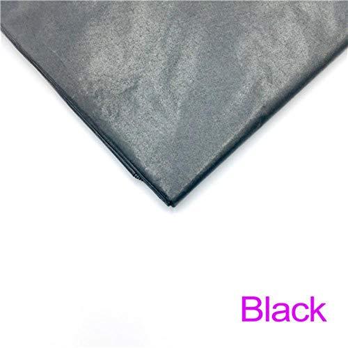 Miner 10 vellen inch Tissuepapier Bloem Kleding Overhemd Schoenen Geschenkverpakking Ambachtelijke papierrol Wijn inpakpapier, zwart