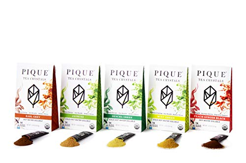 Pique Tea Organic Variety Tea Crystals Sampler - Energy, Healthy Digestion, Immune Support - 70...