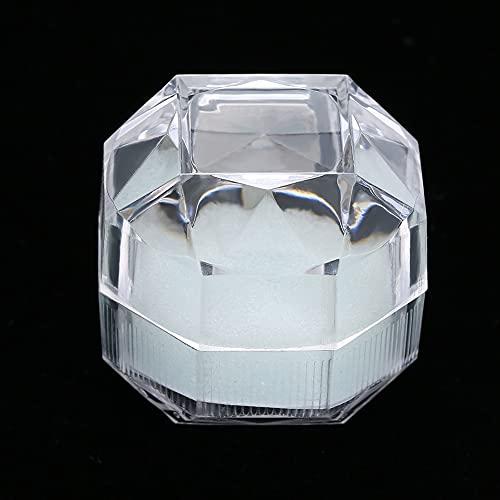 Caja de exhibición de acrílico del almacenamiento Caja de exhibición de la joyería, Caja de exhibición del anillo Caja de almacenamiento del anillo, para la joyería casera(white)