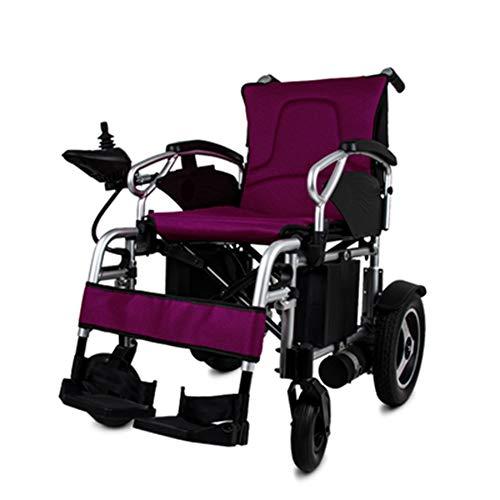 ZXMDP Elektrische rolstoel, licht en vouwframe, Atendant aandrijving, rolstoel, draagbare Transit Travel Chairfor, geschikt voor ouderen, gehandicapten, 20 Ah lithium batterij