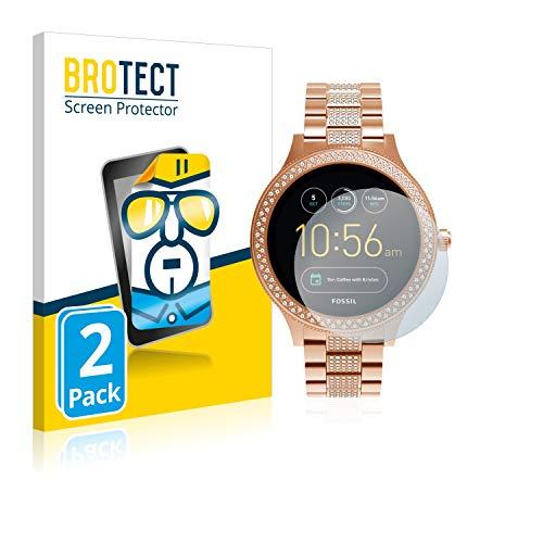 BROTECT Schutzfolie kompatibel mit Fossil Q Venture/Q Venture (3.Gen) (2 Stück) klare Bildschirmschutz-Folie