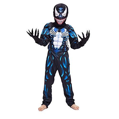 BLOIBFS Venom Costume Costumi E Travestimenti per Carnevale Bimbo Costume per Bambini Costume di Halloween Movie Costume Puntelli Super Hero Festa Compleanno Costumi E Travestimenti,Child-L