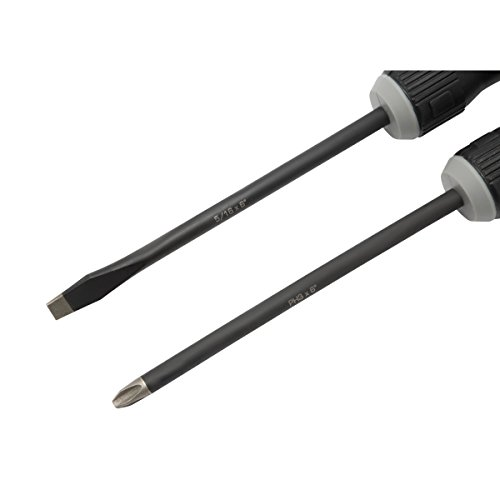 Steelman 8-Piece Diamond Tip Screwdriver Set, Variety of Slotted and Phillips Sizes, Magnetized Tips, Durable Steel, Rust-Resistant Black Oxide Coating