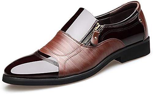 LOVDRAM Chaussures en Cuir pour Hommes Nouveau Business Dress pour Hommes Casual Chaussures pour Hommes Pieds en Cuir Microfibre Chaussures pour Homme