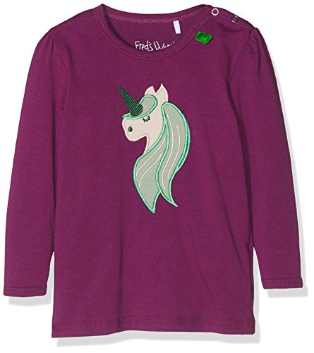 Fred'S World By Green Cotton Unicorn Applique T Baby T-Shirt, Rouge (Bordeaux 019252401), 3 Ans Bébé Fille