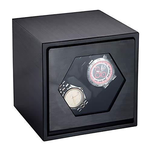 Caja de enrollamiento de Spinner Minilos de observación - 2 + 0 Cáscara de metal de doble cabeza de doble cabeza Minodineros Minoduers Mecánico Reloj de bobinado Caja de bobinado Motion Shaker Reloj C