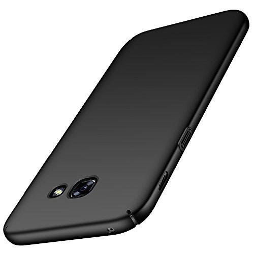 anccer Funda Samsung Galaxy A3 2017, Ultra Slim Anti-Rasguño y Resistente Huellas Dactilares Totalmente Protectora Caso de Duro Cover Case para Samsung Galaxy A3 2017(Negro Liso)