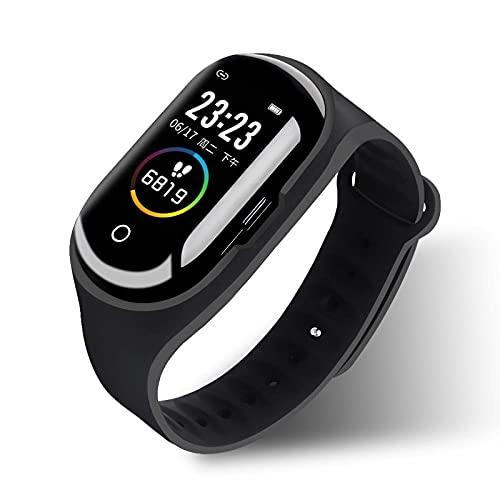 Yumanluo Smart Band Smart Watch,Reloj de Control de la Salud, Pulsera Deportiva con Auricular Bluetooth-Negro,Pulsera Inteligente con Pulsómetro