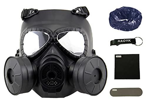 haoYK Máscara antigas simulada de, máscara de cara M04 con ventilador doble, para protección...