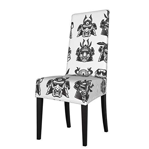 Takashimo Funda protectora para silla de comedor de estilo samurái oriental japonés, funda protectora para silla de comedor elástica