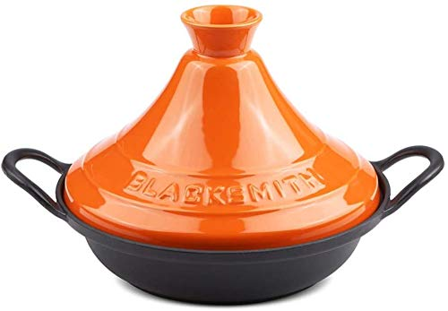 Ovenschotel Cast Iron Ronde ovenschaal Ceramic Casserole Verwarmde Casserole 35,5 * 27 * 21.5cm,Yellow