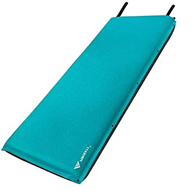 Forceatt Camping Sleeping Pad,Self Inflating - 3.2 Inches Thick Lightweight Camping Pad and Non-Slip Particles on The Back Ideal for Backpacking and Camping.