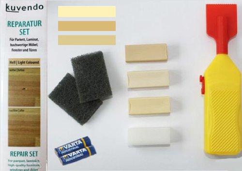 kuvendo ReparaturSet HELL (helle Oberflächen) für Parkett, Laminat, Möbel, Fenster und Türen