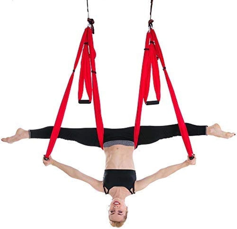 CHSSC Yoga Hngematte, Aerial Yoga Hngematte, 6 Hand Yoga Gürtel, InGrüned Fitness Hngematte, Nicht Elastische Hngematte, Geeignet Für Anfnger