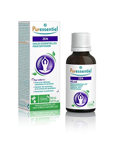 Puressentiel - Sommeil Détente - Huiles Essentielles pour Diffusion - Diffuse Zen -100% pures et naturelles - Aide à procurer détente, relaxation et repos - 30 ml