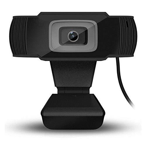 Webcam mit Mikrofon HD 480/720/1080P Computer Webkamera USB für PC Laptop (1280720P, schwarz)