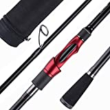 Goture Spinning Rod Bass Fishing Rod Portable Fishing Pole with Rod Case 8.6FT Medium Heavy Power