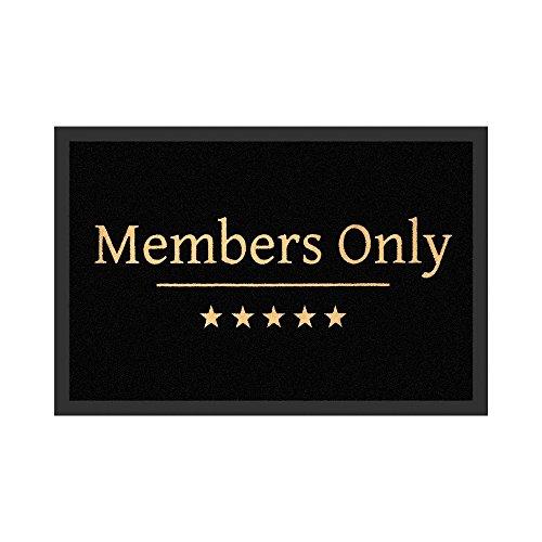 Preis am Stiel Felpudo – Members Only | Felpudo divertido | Felpudo para puerta con texto | Felpudo para entrada | Regalo para hombres