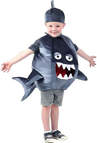 Kinder Hai Kostüm Unisex Tierkostüm Party Outfit Gr. 18- 24 Monate, blau