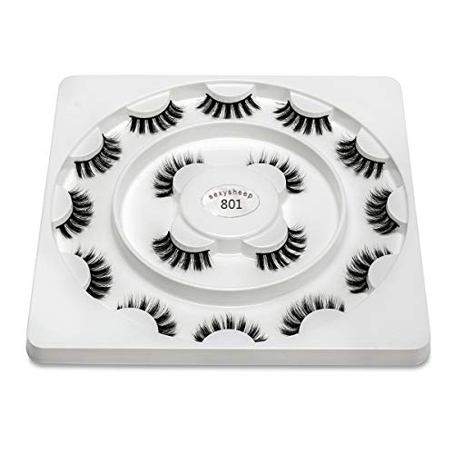 TO TO PestañAs Falsas 3D PestañAs DramáTicas Extensiones A Granel Con Volumen Para Maquillaje De Chica/Hombre PestañAs Suaves Hechas A Mano 8 Pares