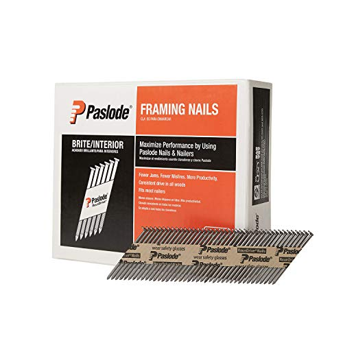 Paslode, Framing Nails, 650603, 30 Degree RounDrive Brite, 2 3/8 inch x.113 Gauge, Ring, 2,000 per Box