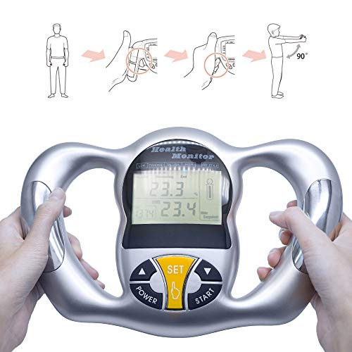 Buy Discount Handheld Fat Analyzer, Digital LCD Display Body Fat Tester, BMI Weight Loss Tester, Calorie Calculator Measurement Tool
