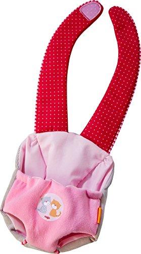 HABA 303729 - Tragesitz Jule | Puppentrage für HABA Babypuppe Jule | Tragegurt mit Klettverschluss | Puppenzubehör für Puppen bis zu 30 cm | Ab 18 Monaten