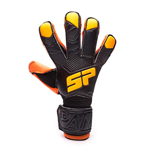 SP Fútbol Pantera Fobos Iconic, Guante de Portero, Black-Orange, Talla 8