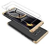 Coque Samsung Galaxy Note 8 360 degrés Or+Noir...