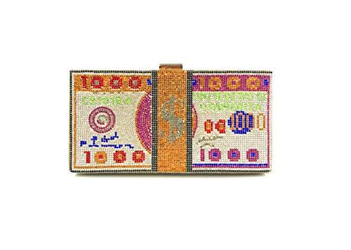 YIEBAI Bolso del dólar del Diamante Vestido del Bolso de la Cena Bolso del Embrague de Las señoras Bolso del Bolso del dólar del Diamante Artificial,Color