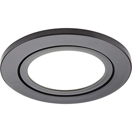 LED Leuchte Orbit 3er Set Dimmbar | Einbauleuchte 3x3W warmweiß, Kunststoff schwarz