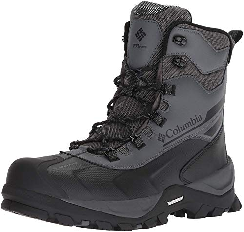 Columbia Men's Bugaboot Plus IV Omni-Heat Mid Calf Boot, Graphite, Black, 9.5 Regular