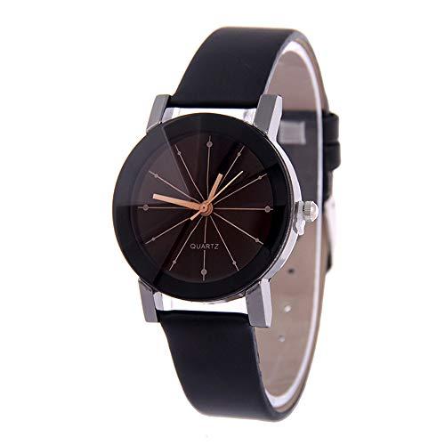 Puwind Pareja Reloj de Cuarzo Clásico Analógico Relojes de Cristal Lente de la PU Banda de Reloj de Pulsera Para los Amantes Regalo Romántico Casual Joyería de