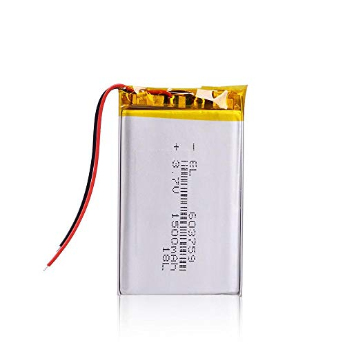 Dilezhiwanjuwu 603759 Litio Recargable LITION LI Polymer 3.7V 1500mAh Batería para MP3 MP4 Jugador Jugador Ratón PSP Juguetes de Altavoz